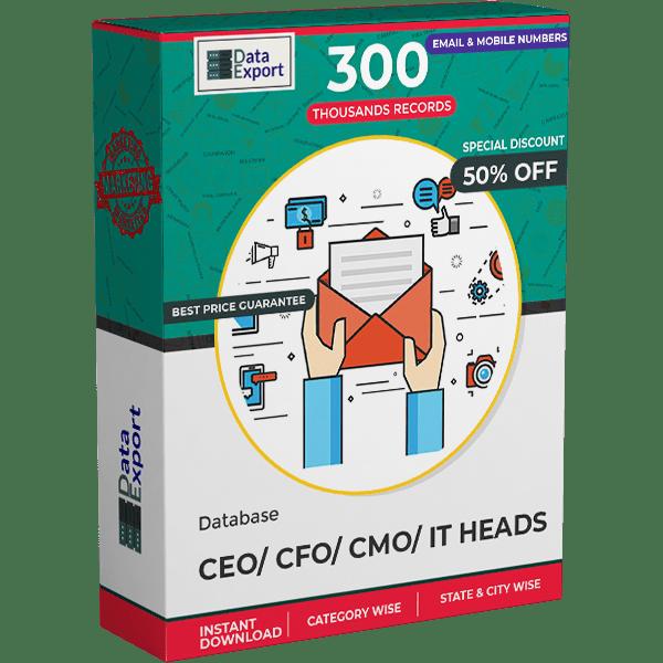 CEO/ CFO/ CMO/ IT Heads Database