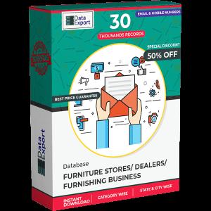 Furniture Stores/ Dealers / Furnishing Business Database