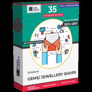 Gems / Jewellery Shops Database