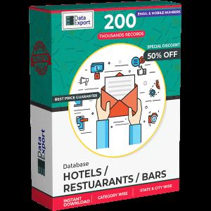 Hotels/ Restuarants/ Bars Database