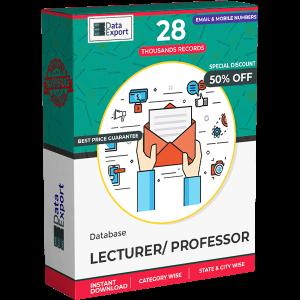 Lecturer / Professor Database
