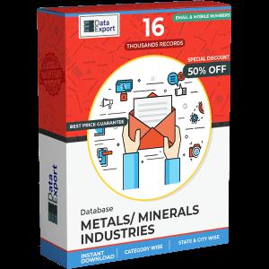Metals/ Minerals Industries Database