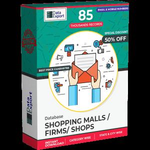 Shopping Malls/ Firms/ Shops Database