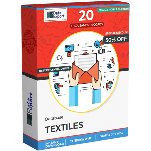 Textiles Emails Database